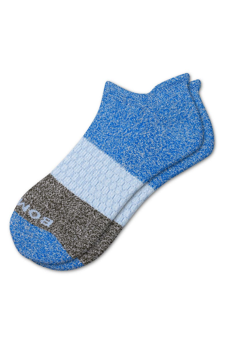 BOMBAS Colorblock Ankle Socks, Main, color, BLUE MULTI