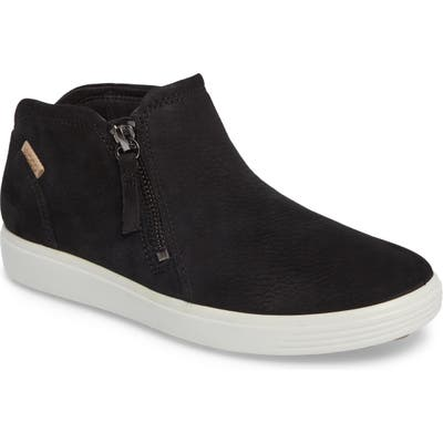 Ecco Soft 7 Mid Top Sneaker, Black