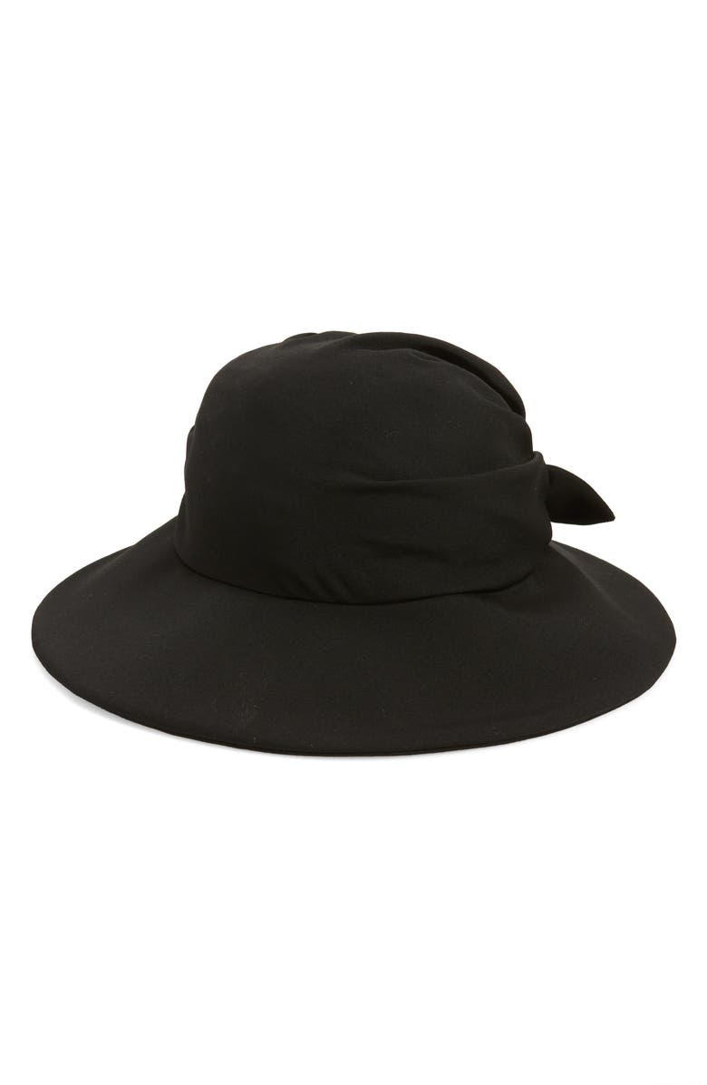 Y'S BY YOHJI YAMAMOTO Back Tie Wool Hat, Main, color, 001