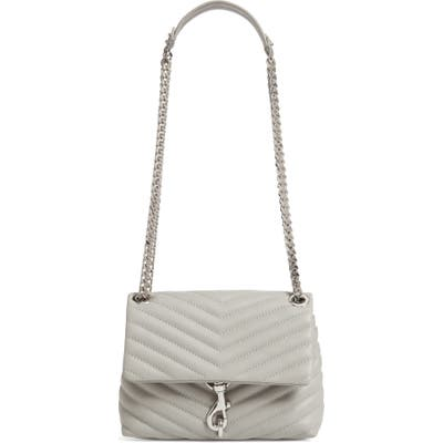 Rebecca Minkoff Edie Quilted Leather Crossbody Bag - Grey