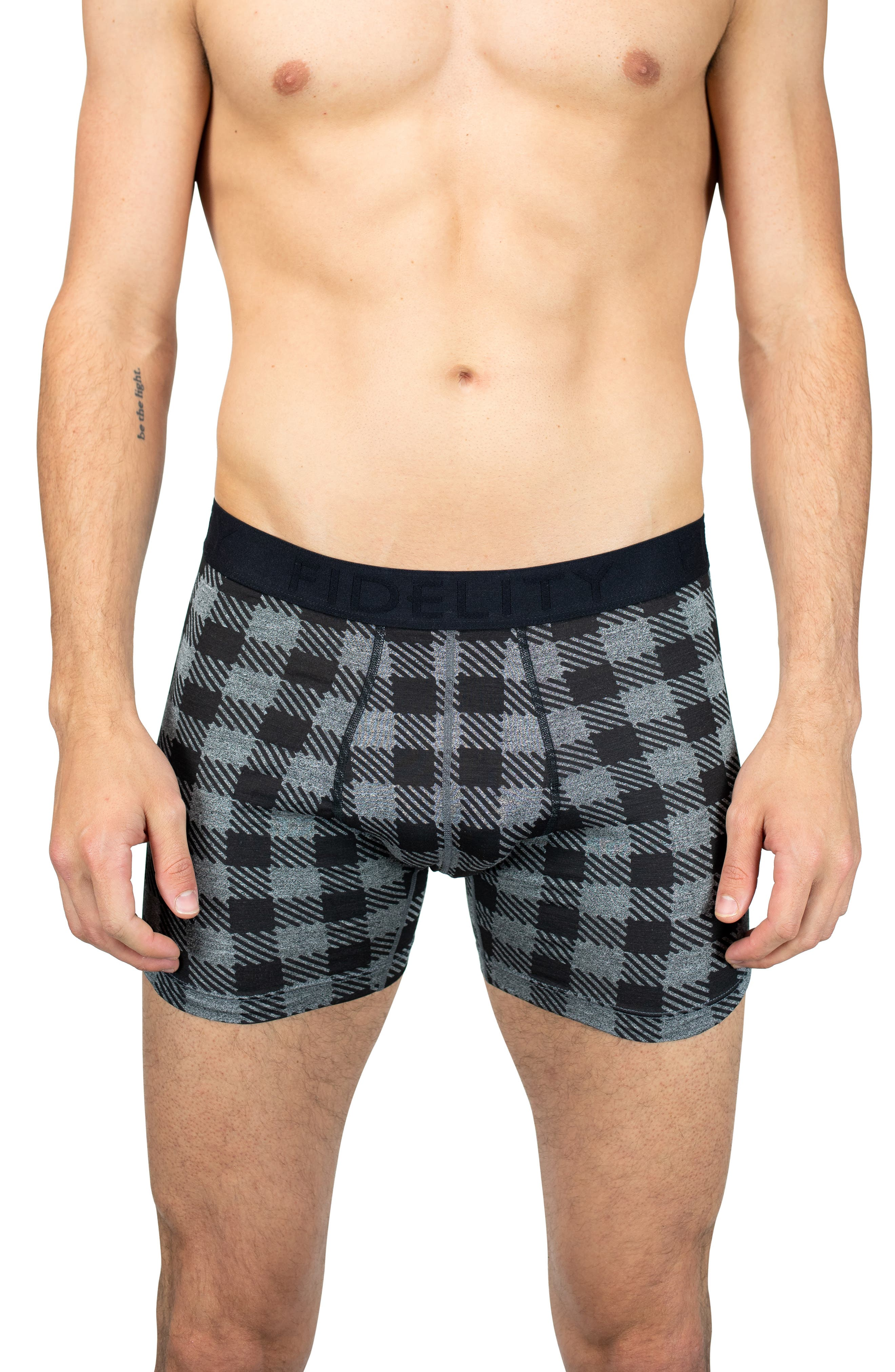 The Epic X-Hold Lumberjack Plaid Performance Boxer Briefs