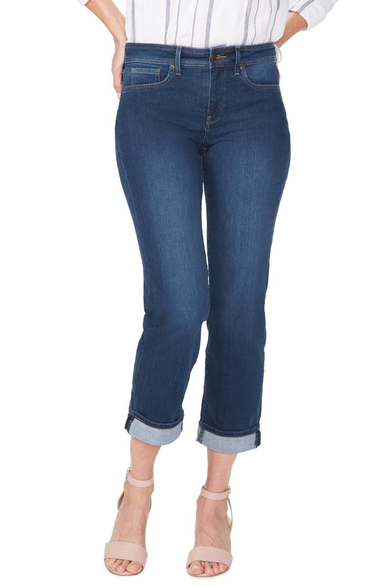NYDJ Marilyn Cuff Ankle Straight Leg Jeans, Main, color, COOPER