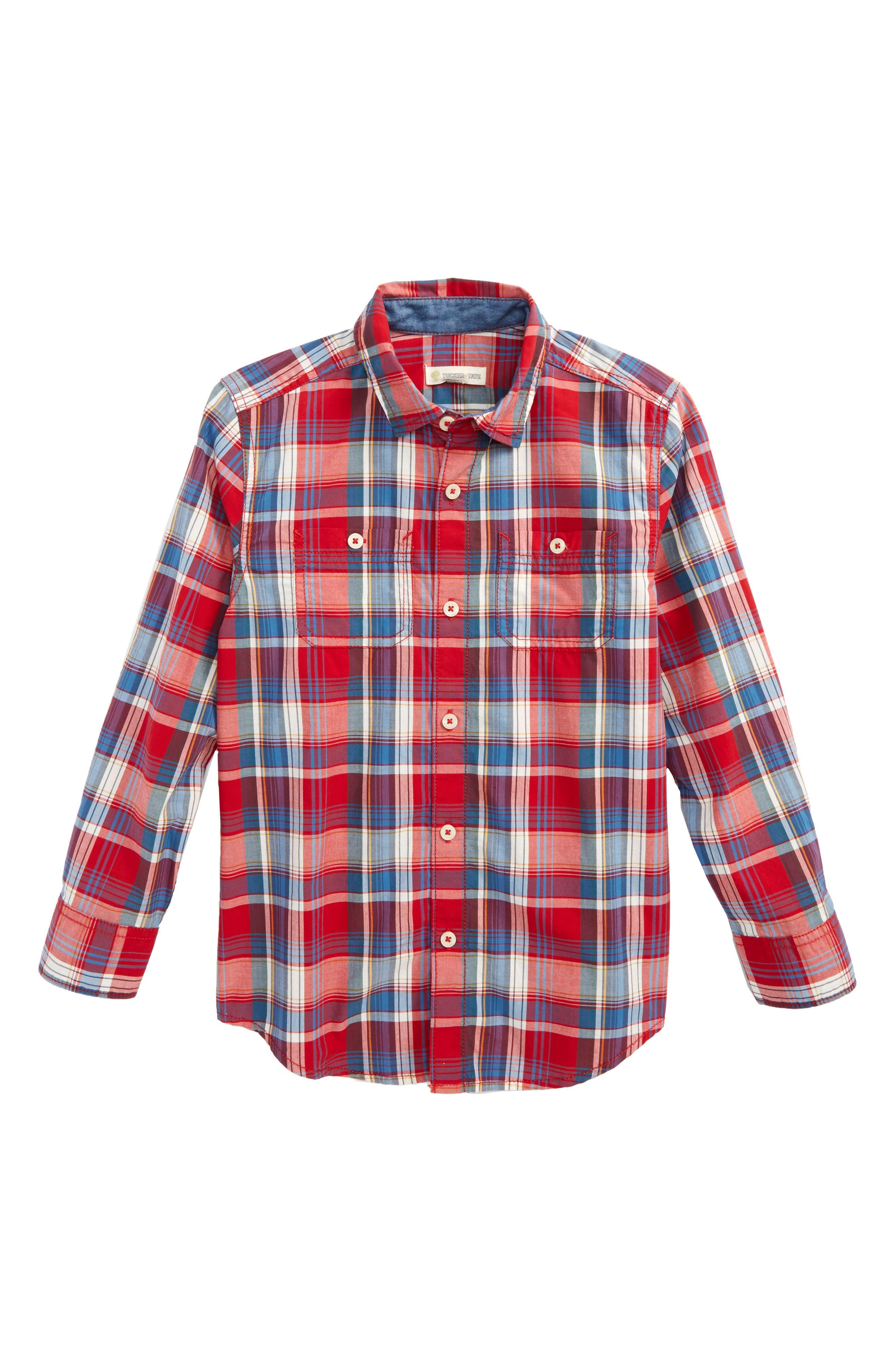 ,                             'Photo' Buffalo Plaid Woven Shirt,                             Main thumbnail 30, color,                             601