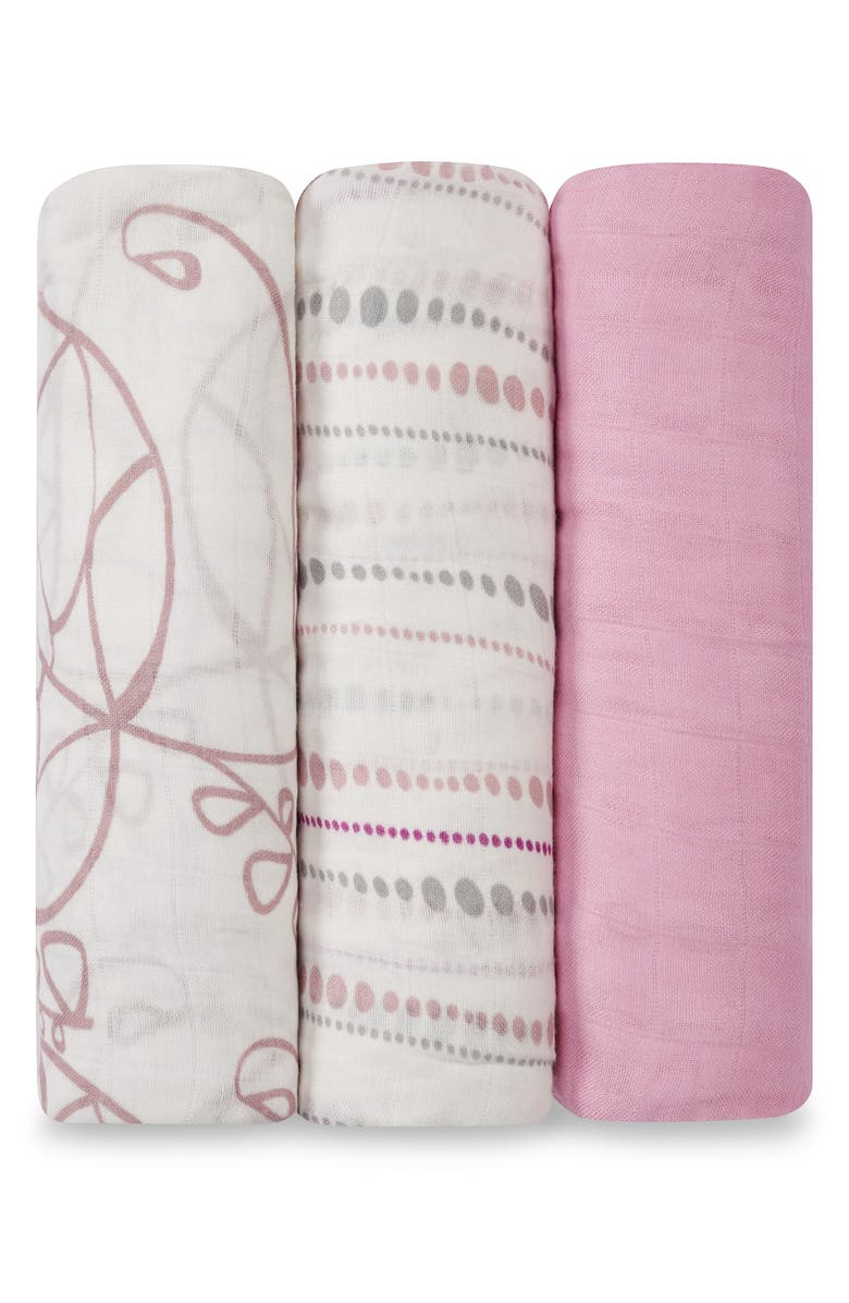 ADEN + ANAIS Swaddling Cloths, 3-Pack, Main, color, 650