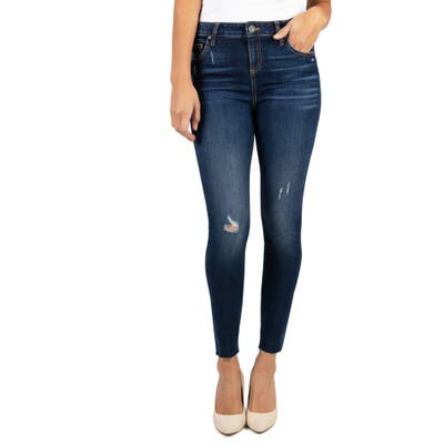 Kut From The Kloth Connie High Waist Ankle Skinny Jeans, Blue