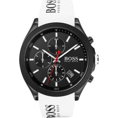 Boss Velocity Chronograph Rubber Strap Watch, 45Mm