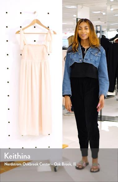 Smocked Swiss Dot Midi Dress, sales video thumbnail