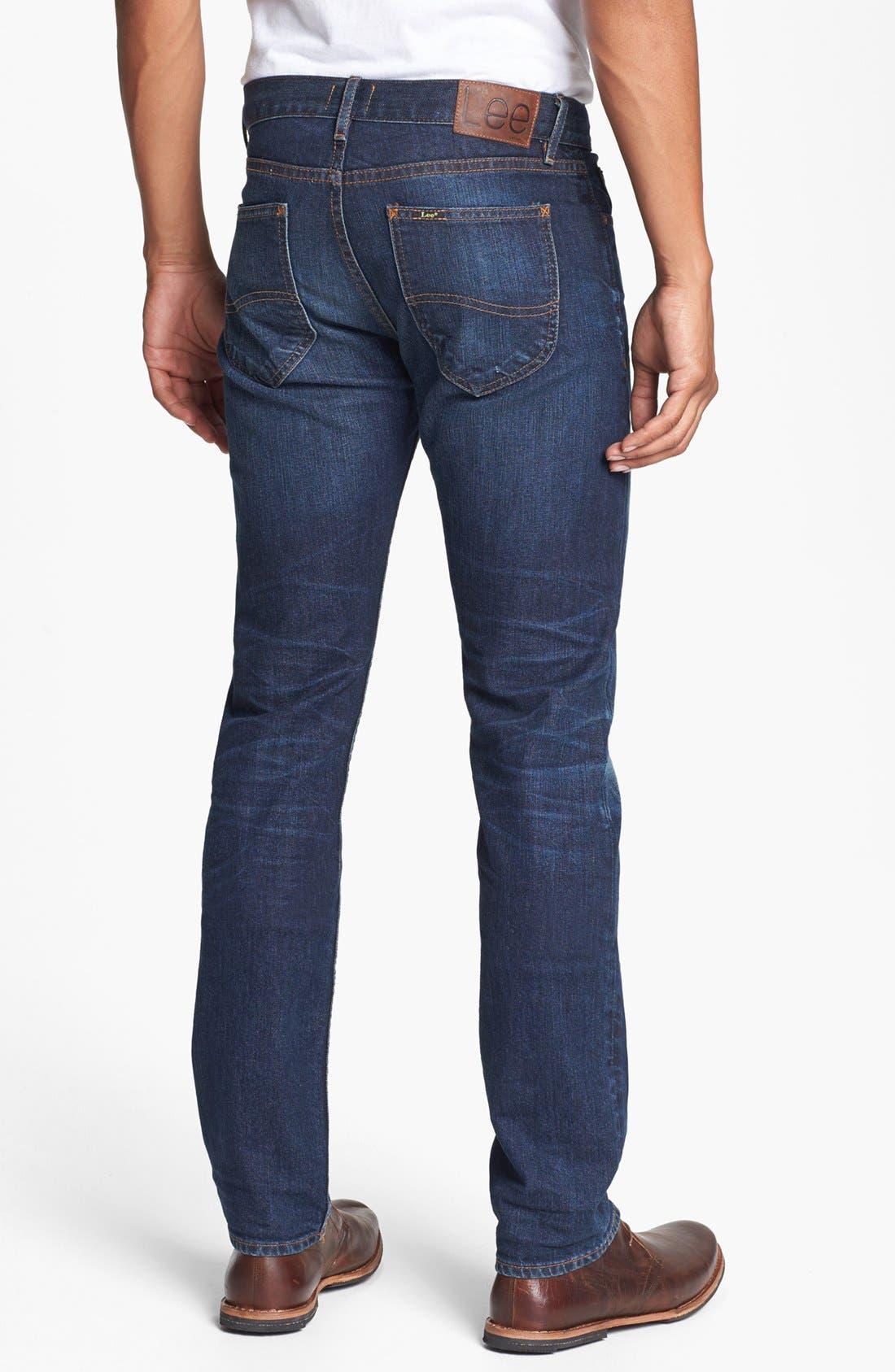 ,                             'Lean' Straight Leg Jeans,                             Alternate thumbnail 3, color,                             401