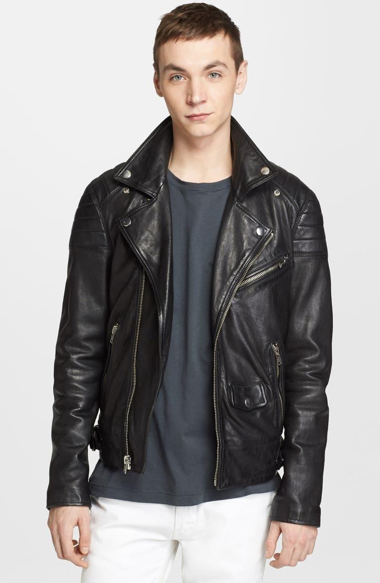 BLK DNM 'Leather Jacket 31' Leather Moto Jacket, Main, color, 001