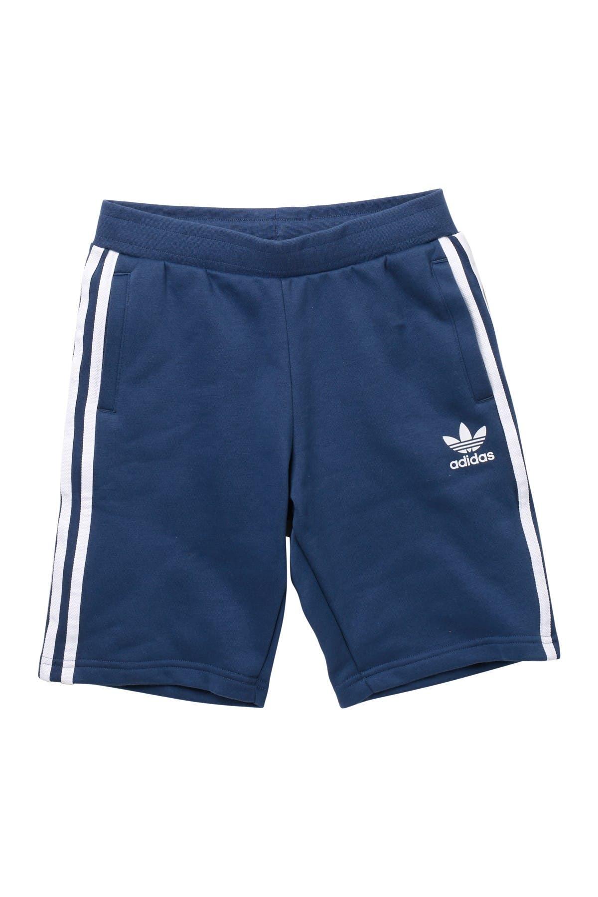 Image of ADIDAS ORIGINALS 3 Stripe Fleece Shorts