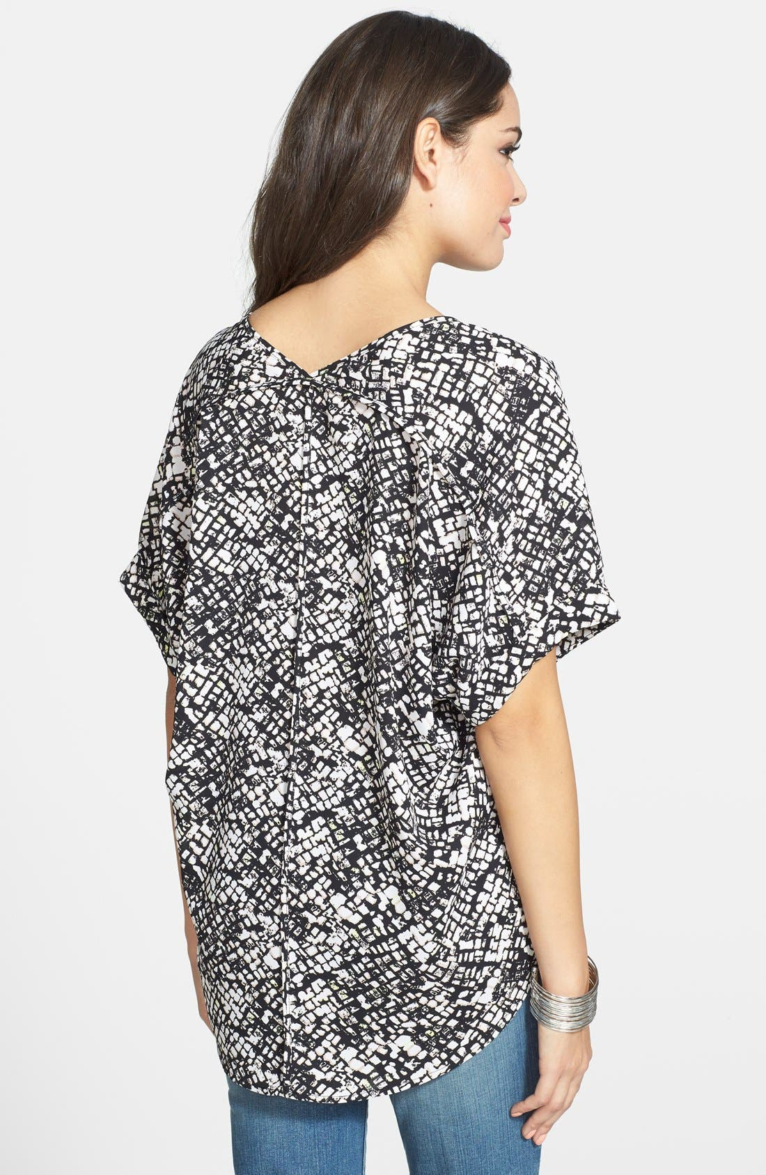 ,                             Lush Cuff Sleeve Woven Tee,                             Alternate thumbnail 9, color,                             005