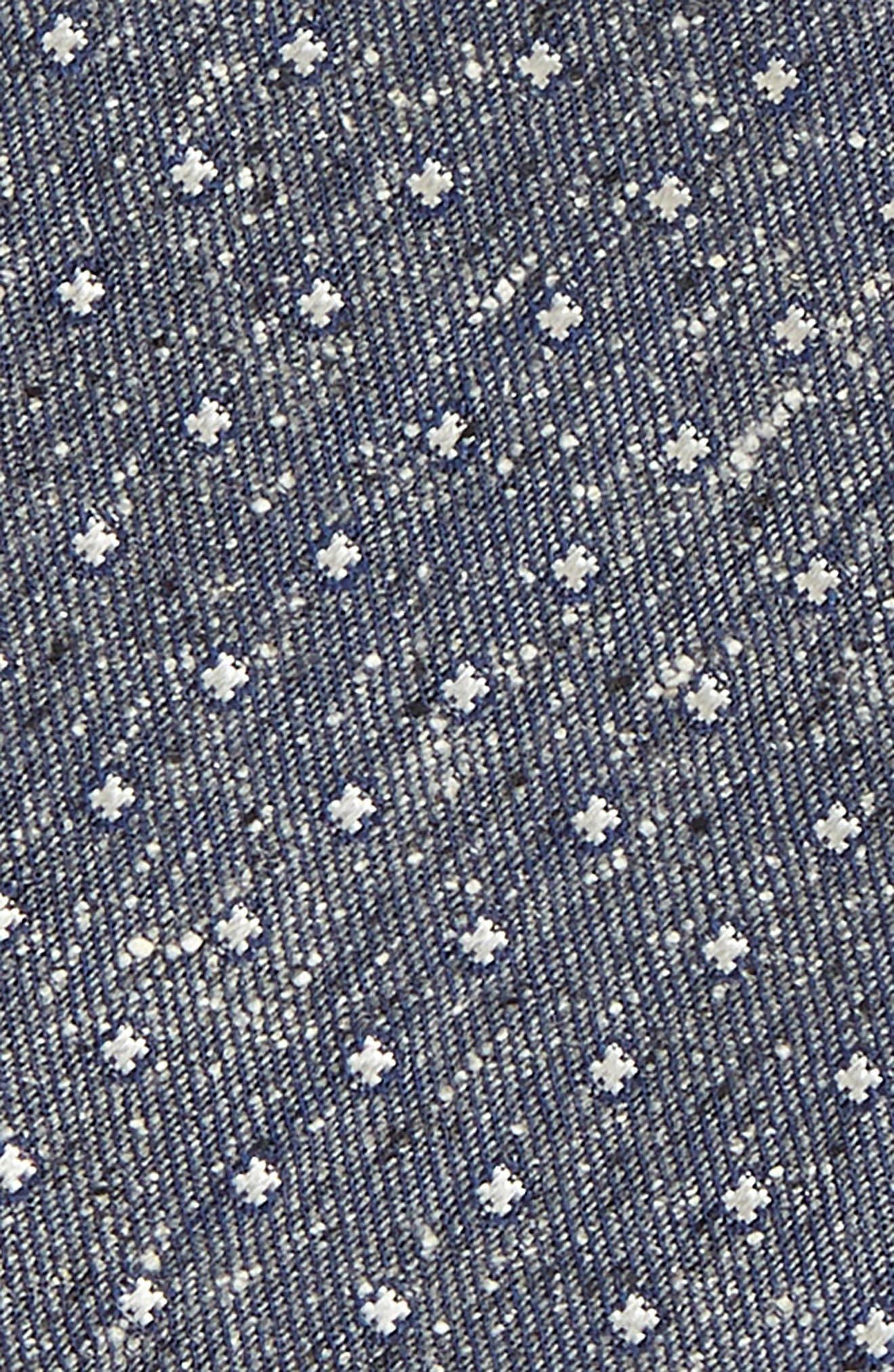 ,                             Carrillo Dot Silk Bow Tie,                             Alternate thumbnail 3, color,                             GREY