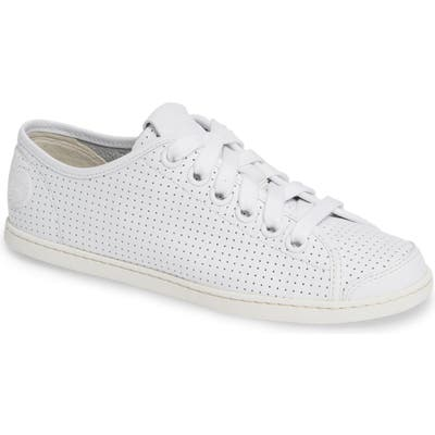 Camper Uno Perforated Sneaker, White