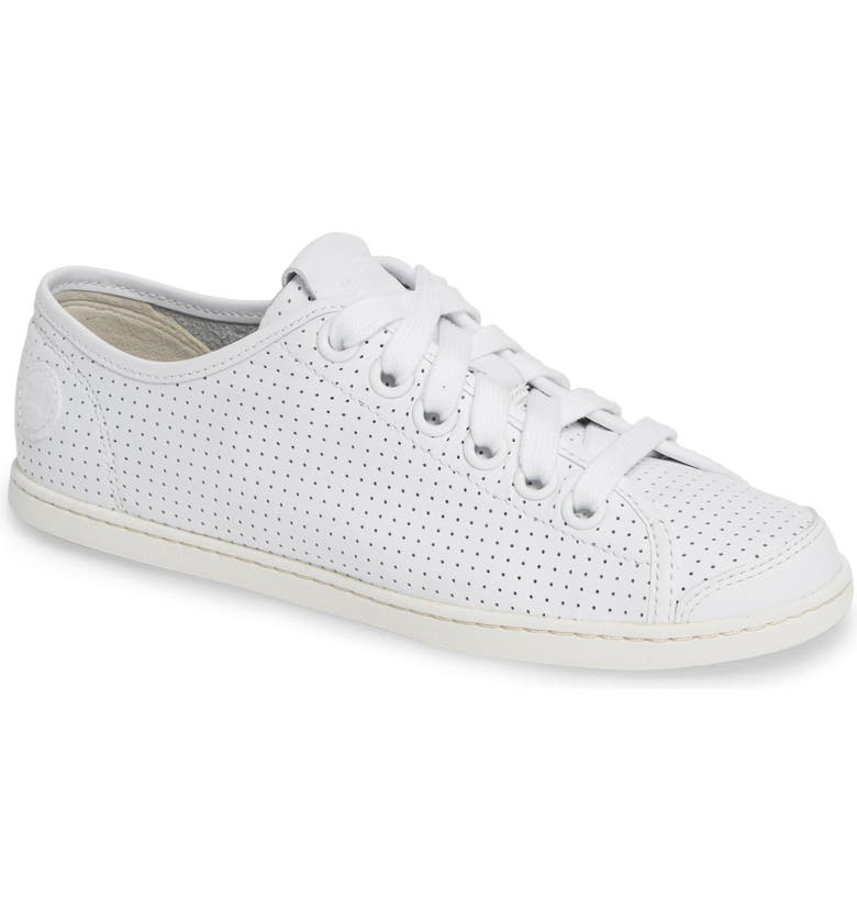 CAMPER Uno Perforated Sneaker, Main, color, WHITE NATURAL LEATHER