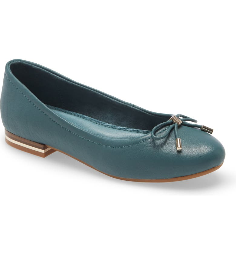 KENNETH COLE NEW YORK Balance Ballet Flat, Main, color, SEA GREEN LEATHER
