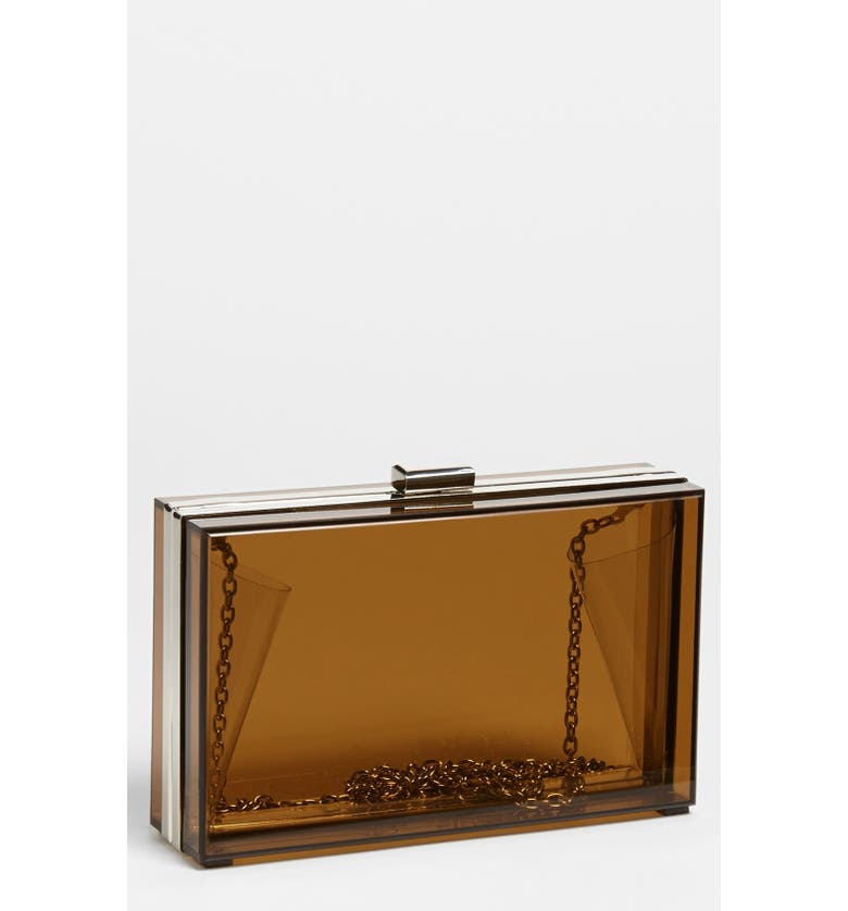 EXPRESSIONS NYC Clear Box Clutch, Main, color, 200