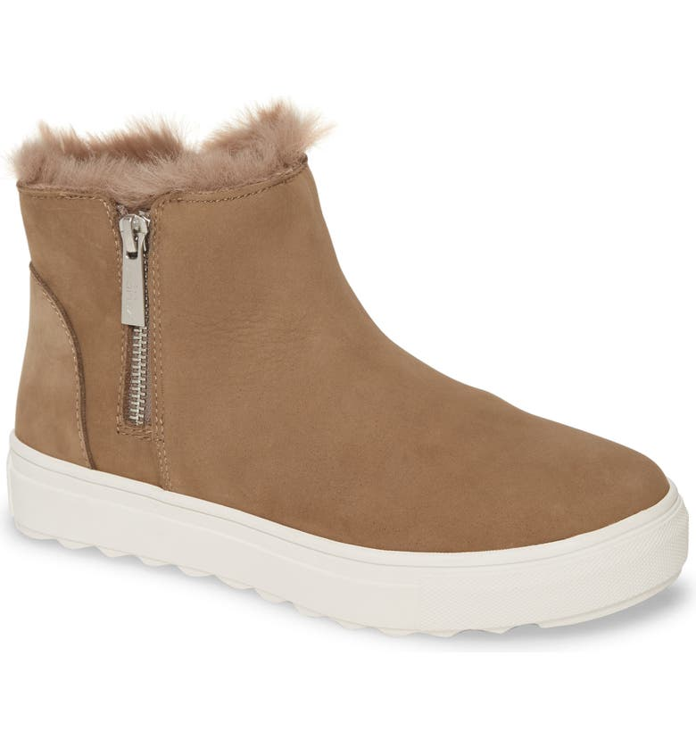 JSLIDES Poppy Waterproof Bootie, Main, color, TAUPE NUBUCK LEATHER