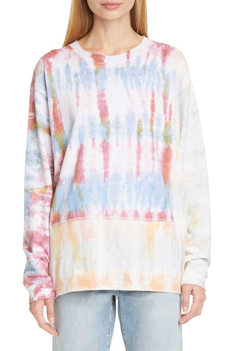 JOHN ELLIOTT Reconstructed Tie Dye Long Sleeve T-Shirt, Main, color, 650