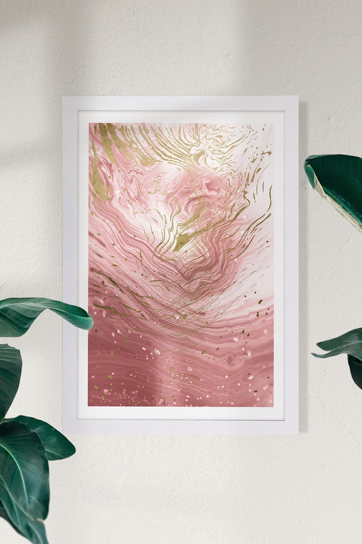 Wynwood Studio Agate En Pink Abstract Framed Wall Art at Nordstrom Rack