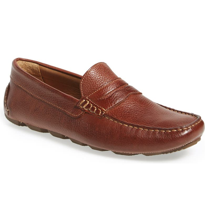 1901 Bermuda Penny Loafer, Main, color, TAN LEATHER