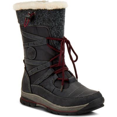 Spring Step Brurr Faux Fur Lined Waterproof Snow Boot - Black