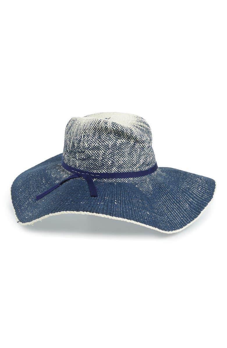 LOLA HATS Dip Dyed Denim Hat, Main, color, BLUE