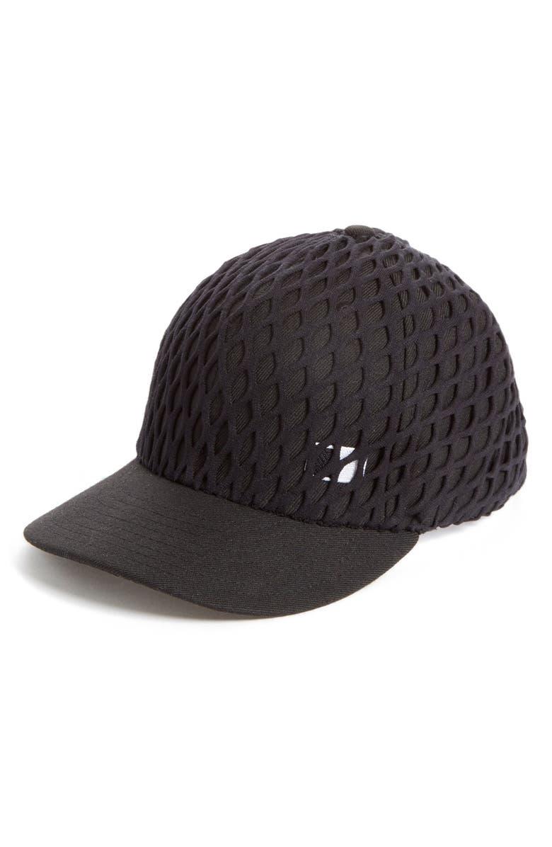 ALEXANDER WANG Net Overlay Baseball Cap, Main, color, 001