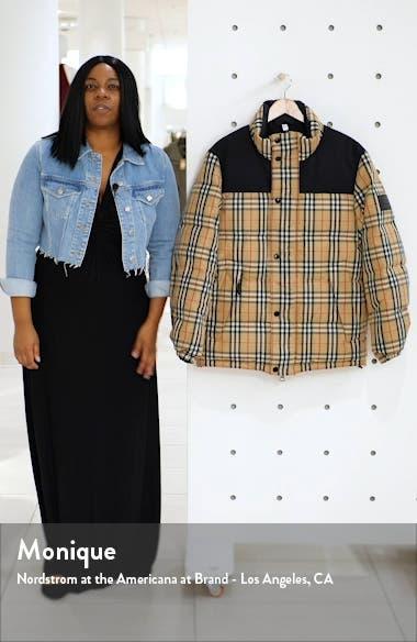 Reversible Vintage Check Down Puffer Coat, sales video thumbnail