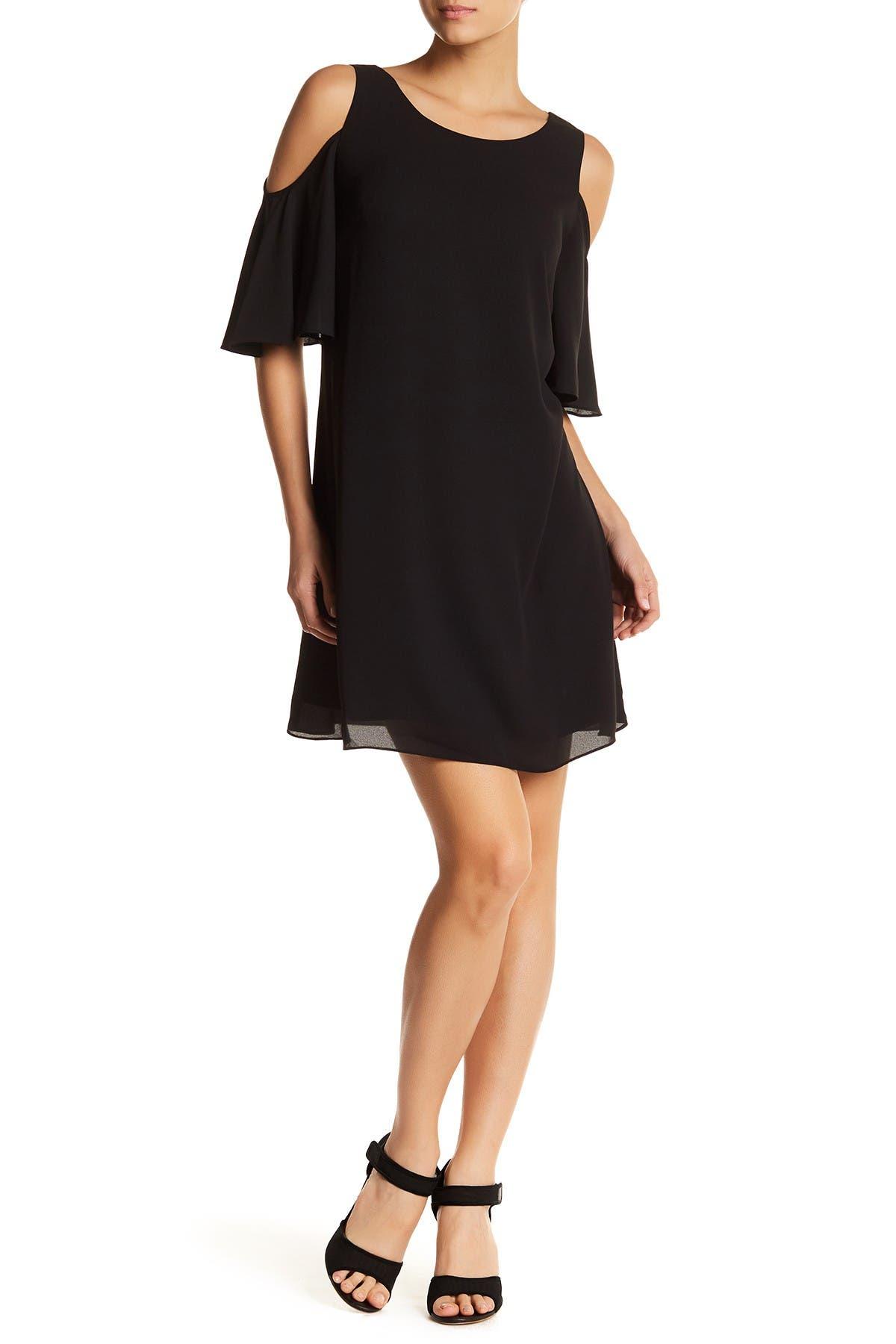 Image of Chelsea28 Cold Shoulder Flutter Sleeve Dress