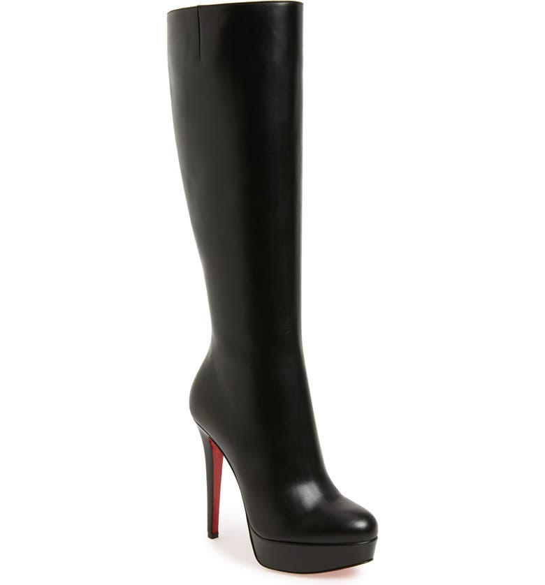 CHRISTIAN LOUBOUTIN 'Bianca Botta' Platform Boot, Main, color, BLACK LEATHER
