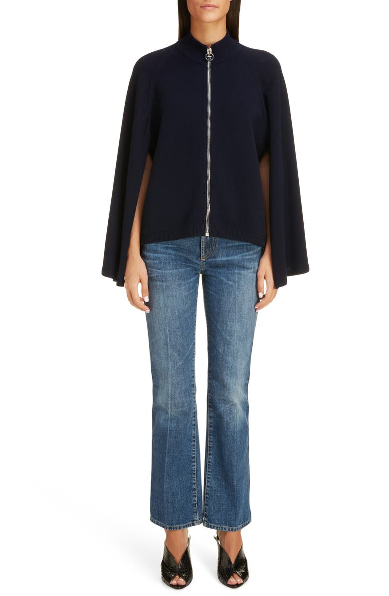GIVENCHY Wool & Cashmere Sweater Cape, Main, color, NIGHT BLUE