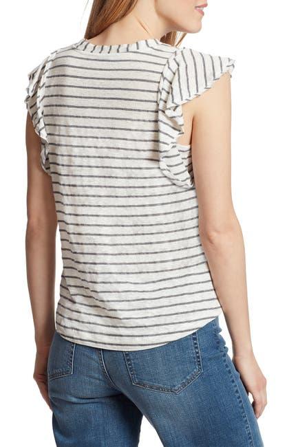Image of Ella Moss Gemma Stripe Linen Blend Shirt
