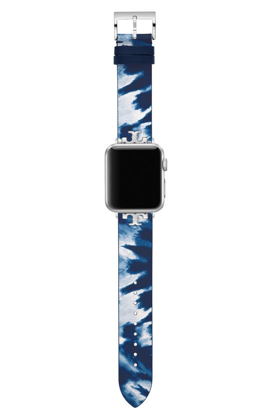 Tory Burch THE TIE DYE LEATHER STRAP FOR APPLE WATCH, 38MM/40MM