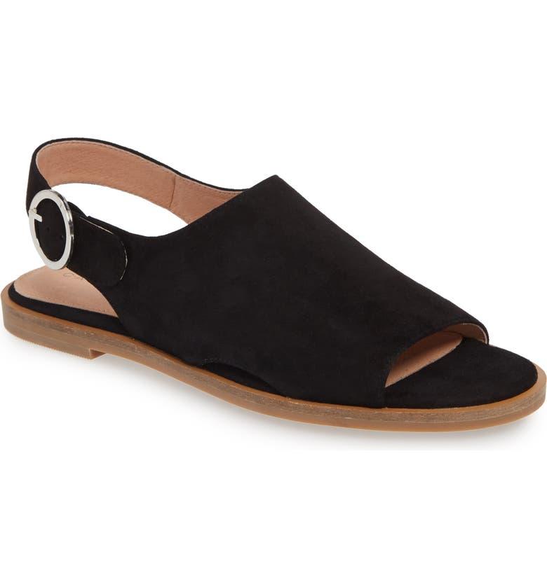 CASLON<SUP>®</SUP> Marrlows Slingback Sandal, Main, color, BLACK SUEDE
