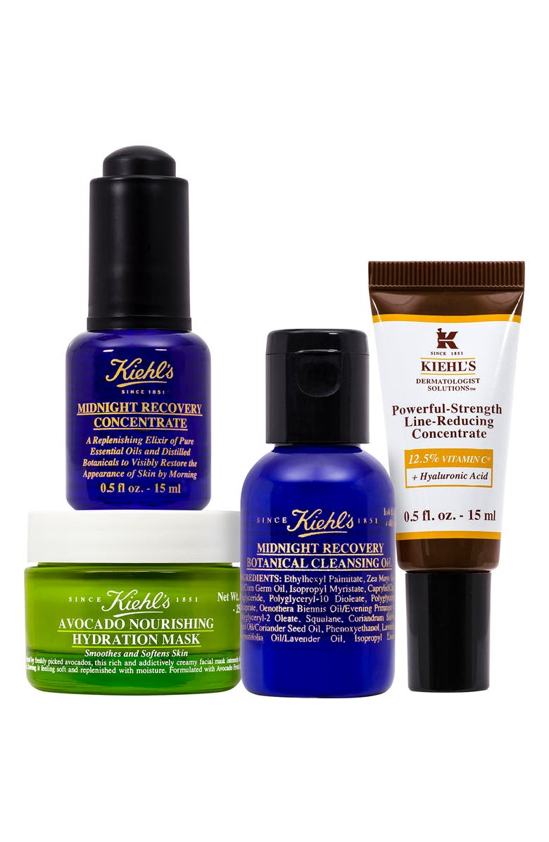 KIEHL'S SINCE 1851 Midnight Recovery Cleansing Oil & Concentrate Set, Main, color, NO COLOR