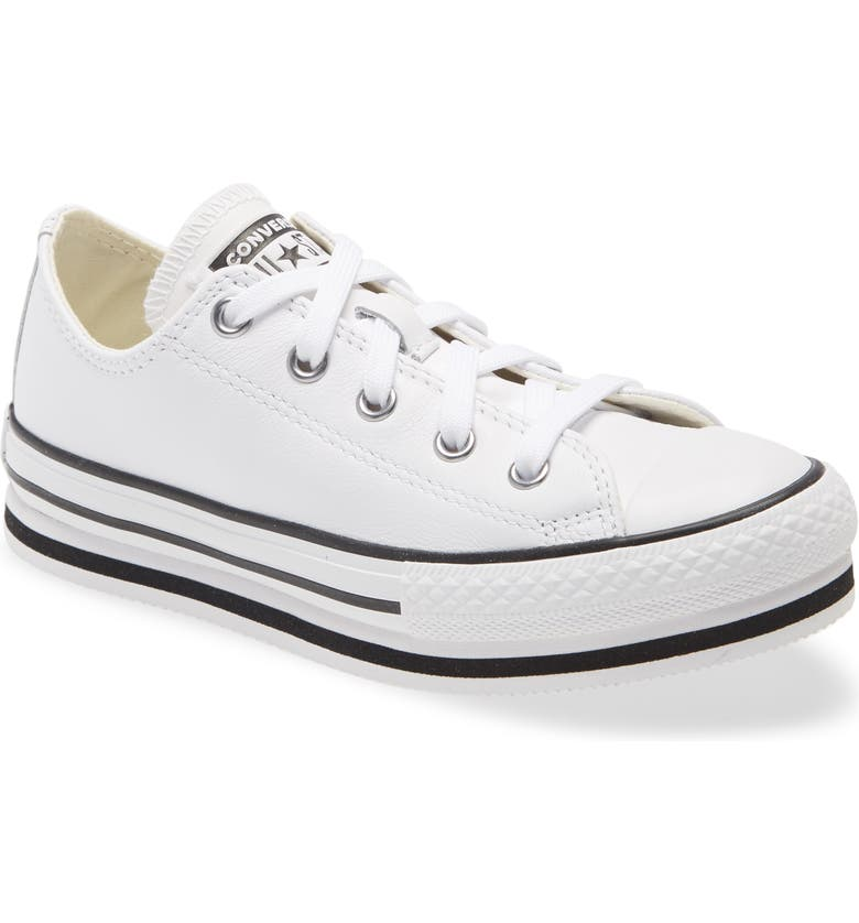 CONVERSE Chuck Taylor<sup>®</sup> All Star<sup>®</sup> Low Top Platform Sneaker, Main, color, WHITE/ BLACK/ EGRET
