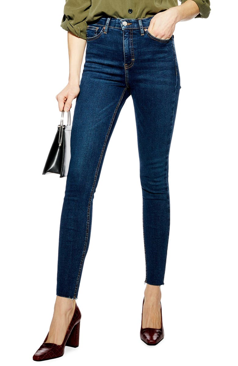 TOPSHOP Jamie High Waist Jeans, Main, color, INDIGO