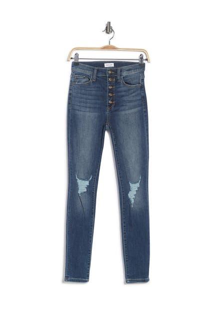 Image of Sneak Peek Denim High Rise Skinny Distressed Jeans