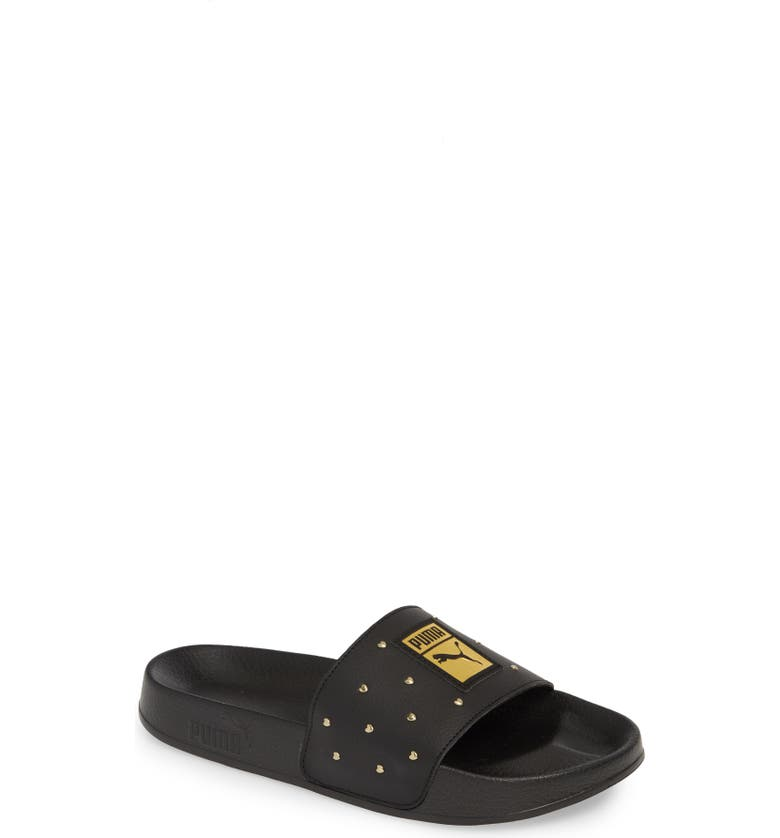 PUMA Leadcat Studs Sport Slide, Main, color, BLACK/ TEAM GOLD