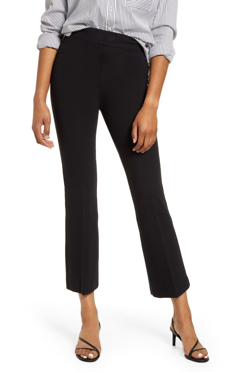 SPANX<SUP>®</SUP> Ponte Crop Flare Pants, Main, color, CLASSIC BLACK