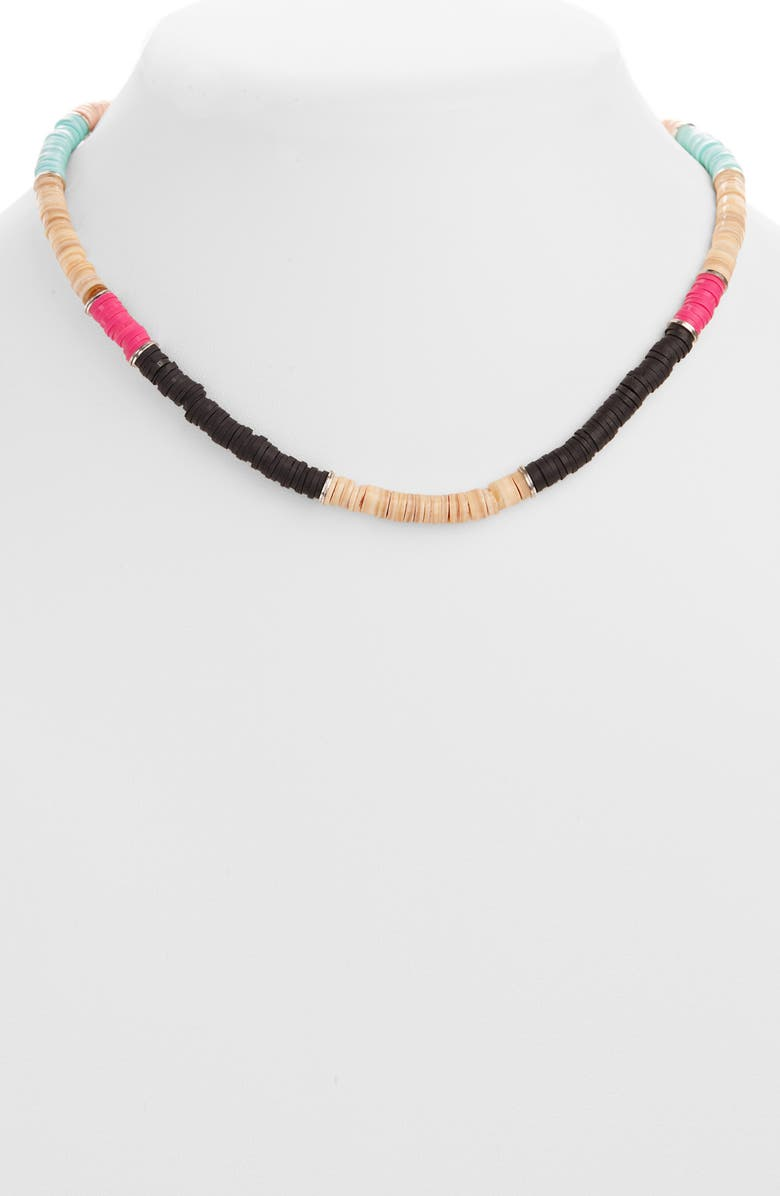 ISABEL MARANT Beaded Collar Necklace, Main, color, BLACK/ SILVER