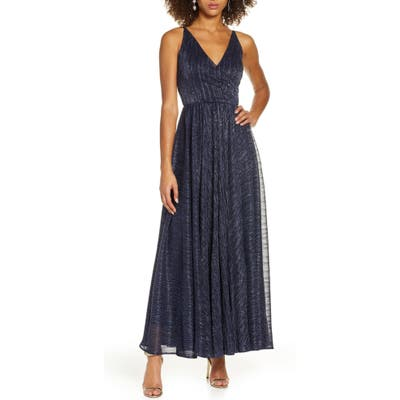 Dress The Population Valentina Metallic Fit & Flare Gown