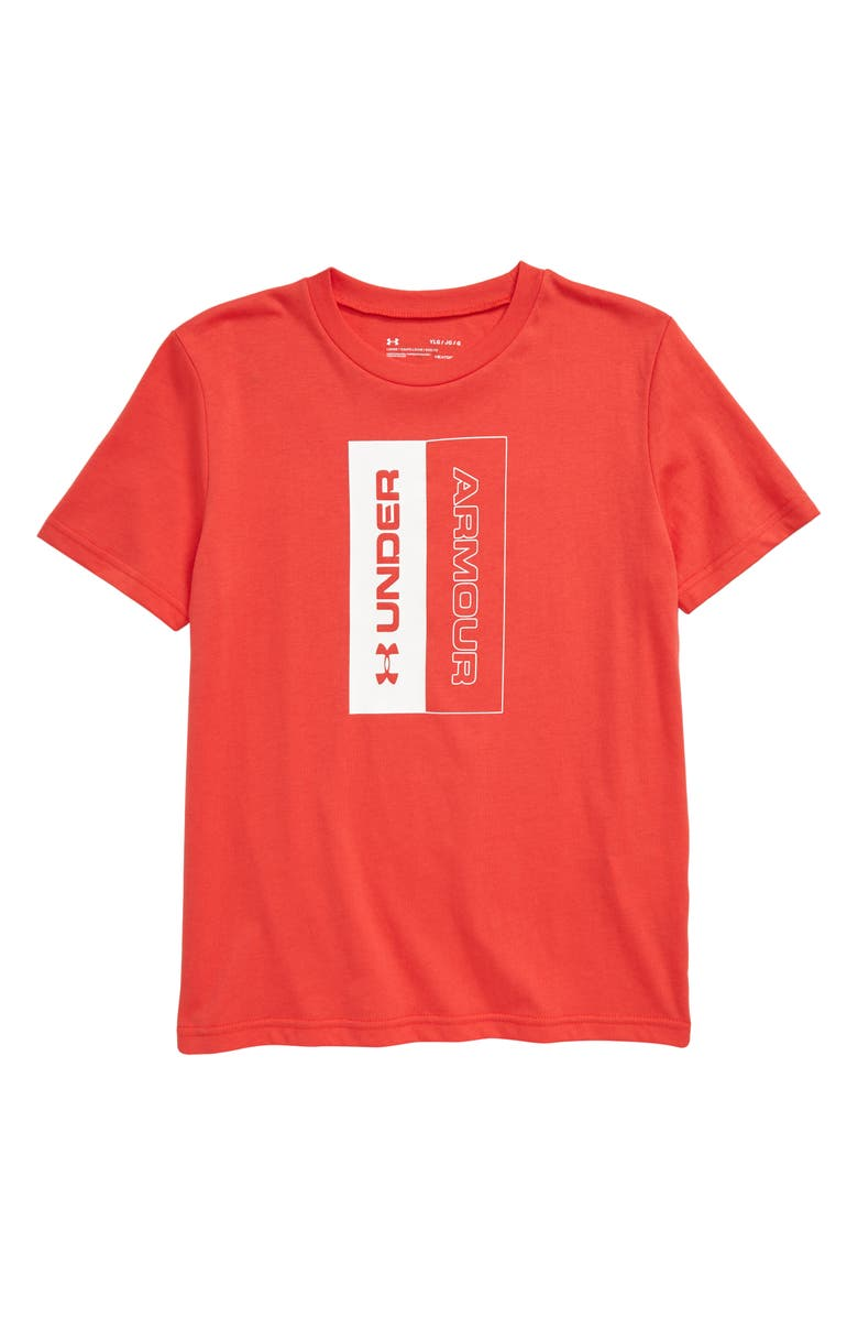 UNDER ARMOUR Unstoppable Logo Graphic T-Shirt, Main, color, MARTIAN RED/ WHITE