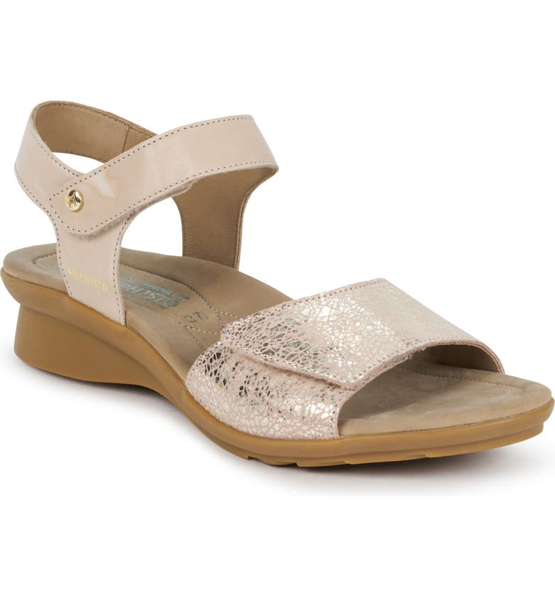 MEPHISTO Pattie Sandal, Main, color, LIGHT TAUPE LEATHER