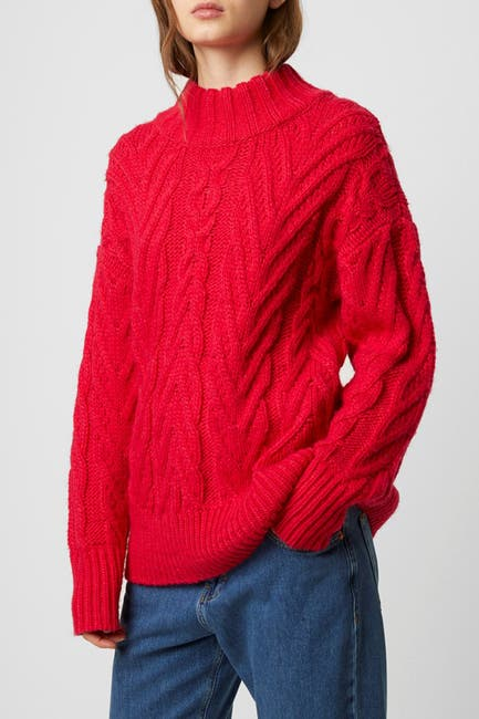 Image of French Connection Nissa Cable Knit Pullover Sweater