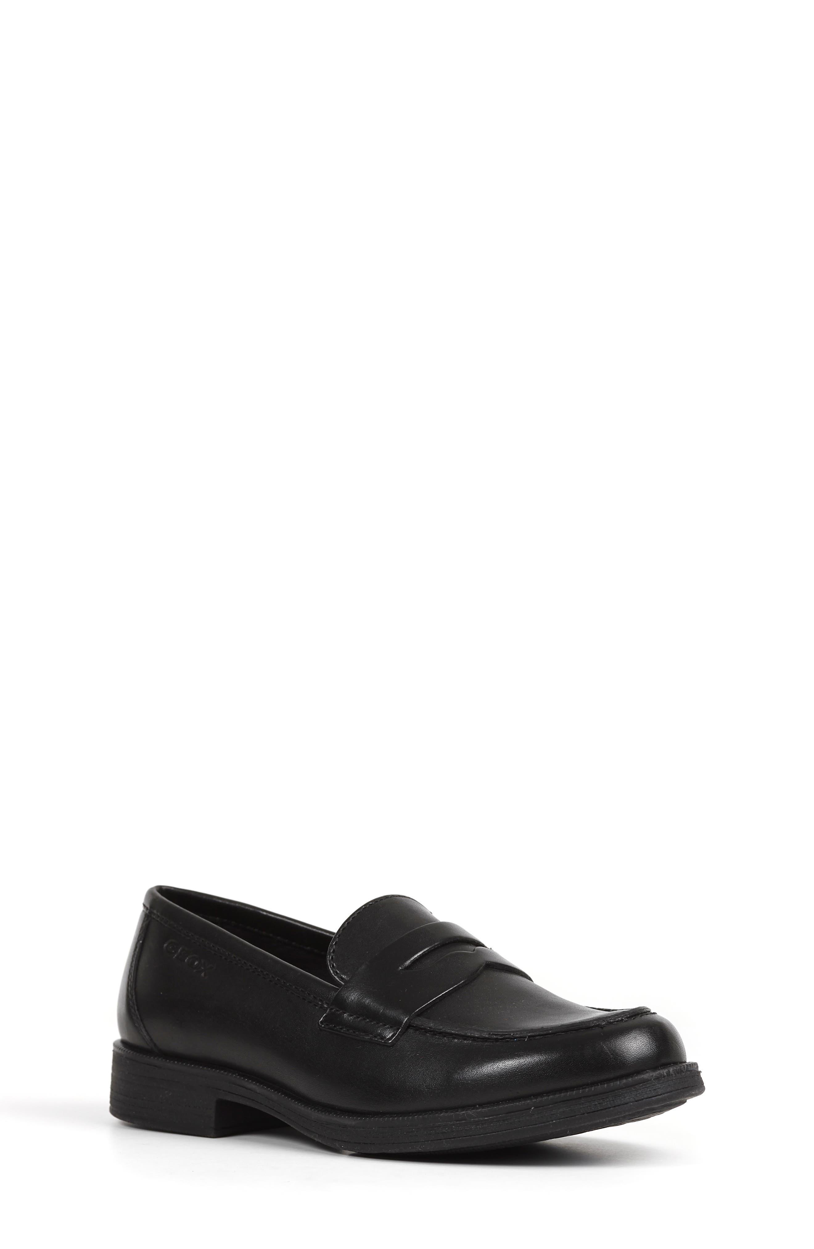 Boys Geox Agata 1 Penny Loafer Size 4US  36EU  Black
