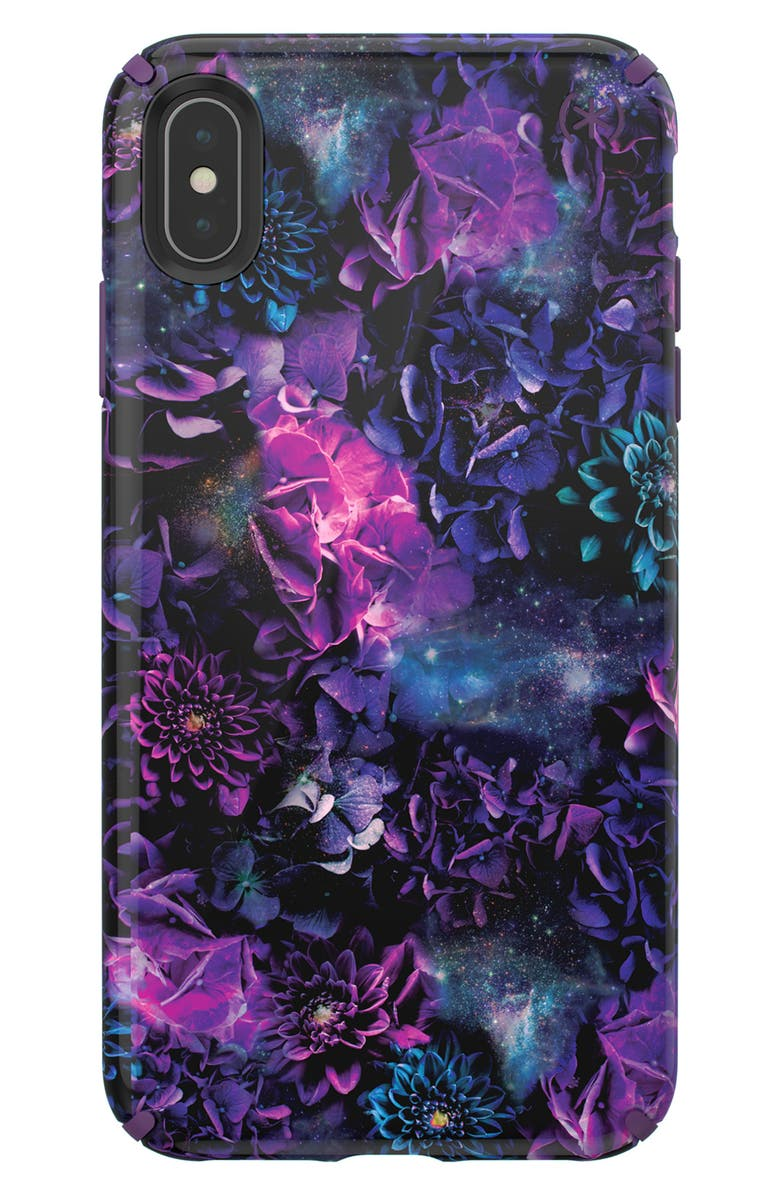 SPECK Presidio Inked iPhone X & Xs Case, Main, color, PURPLE XS MAX