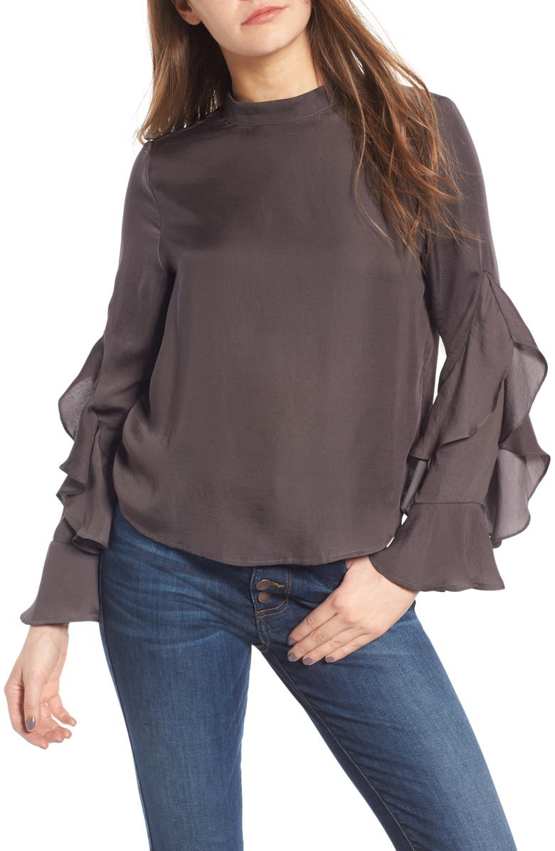 ELODIE Ruffle Sleeve Blouse, Main, color, 020