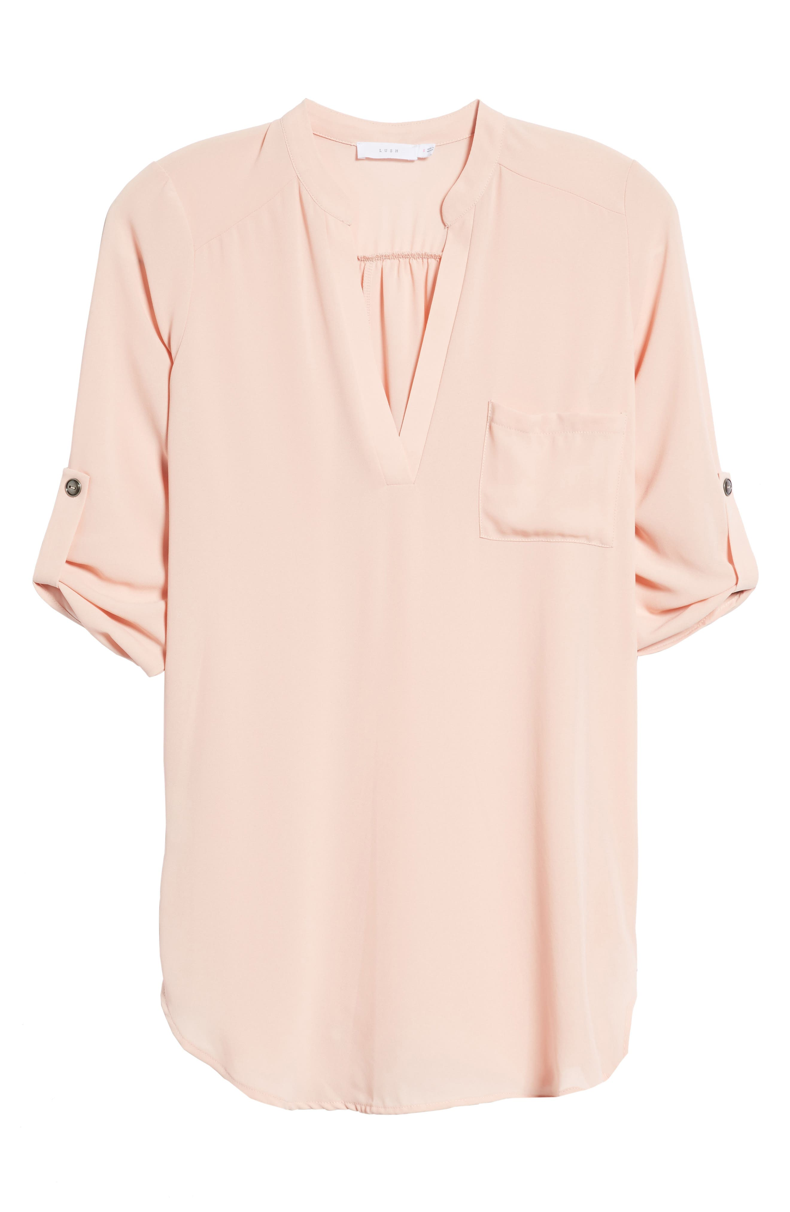 ,                             Perfect Roll Tab Sleeve Tunic,                             Alternate thumbnail 222, color,                             250