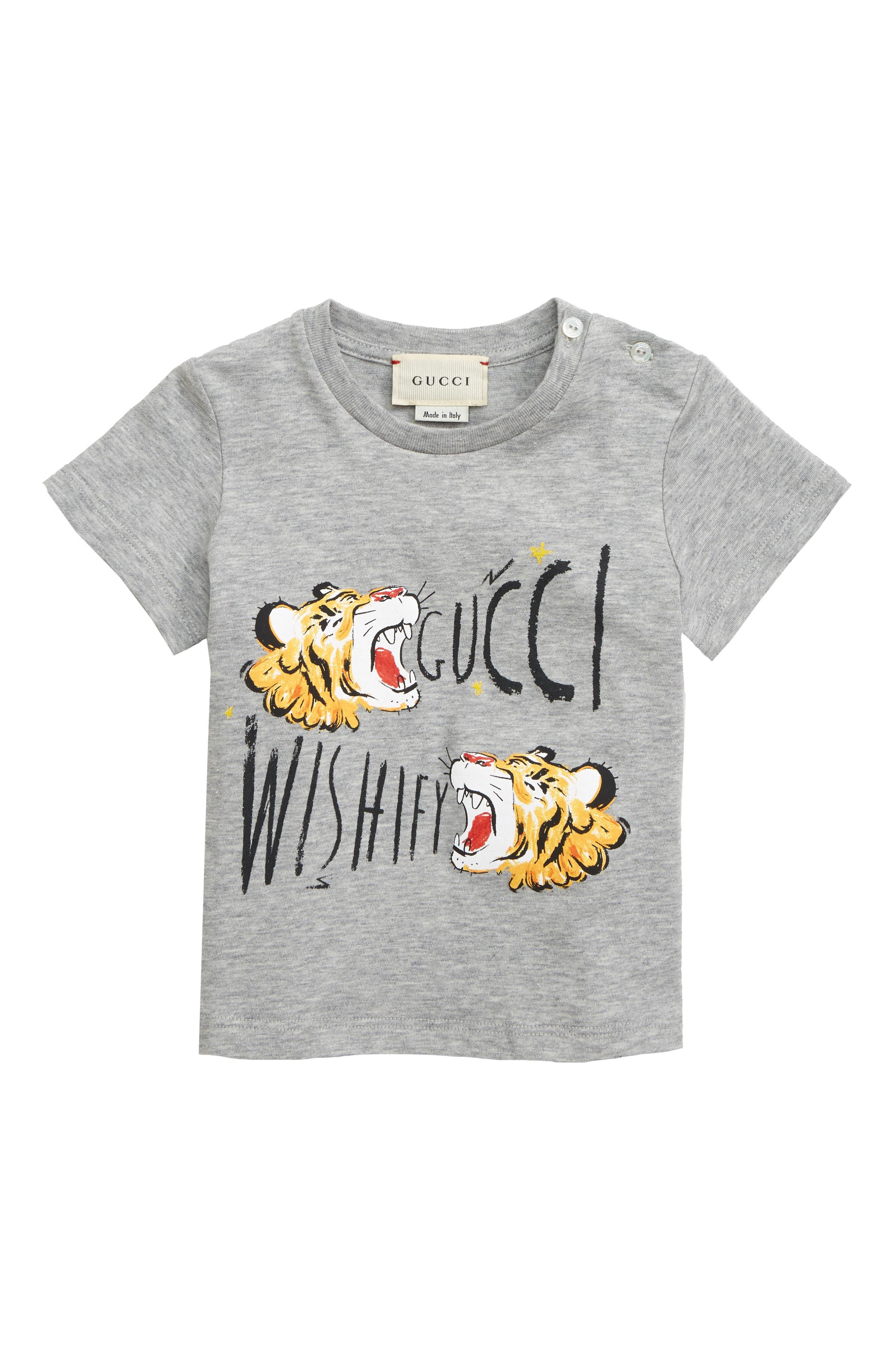 Wishify Graphic T-Shirt, Main, color, LIGHT GREY MELANGE